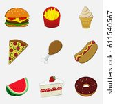 food emoji | Shutterstock .eps vector #611540567