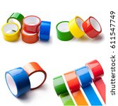 Small photo of Adhesive tape on the white background