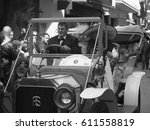 international antique car rally ... | Shutterstock . vector #611558819