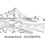 Mountain River Graphic Black...