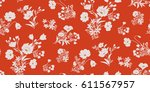seamless floral pattern in... | Shutterstock .eps vector #611567957