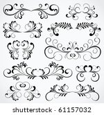 set of floral elements for... | Shutterstock . vector #61157032