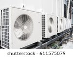 exterior air conditioning unit... | Shutterstock . vector #611575079