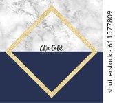 gold marble modern vector design | Shutterstock .eps vector #611577809