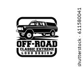 off road classic extreme... | Shutterstock .eps vector #611580041