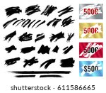 ripped effect marks. suitable... | Shutterstock .eps vector #611586665