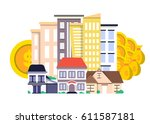 investment in real estate... | Shutterstock .eps vector #611587181