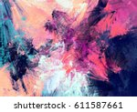 bright color fireworks.... | Shutterstock . vector #611587661