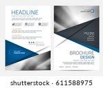 brochure template flyer... | Shutterstock .eps vector #611588975
