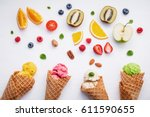 cones and colorful various... | Shutterstock . vector #611590655