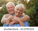 portrait of a happy senior man... | Shutterstock . vector #611592221