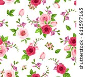 vector seamless pattern with... | Shutterstock .eps vector #611597165