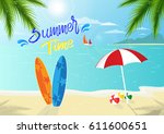 summer time background is... | Shutterstock .eps vector #611600651