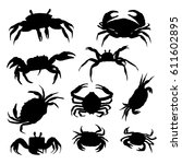 Vector Crab Silhouette. Crabs...