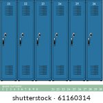 empty blue school lockers with... | Shutterstock .eps vector #61160314