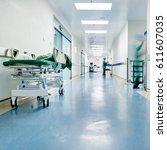 doctors and nurses walking in... | Shutterstock . vector #611607035