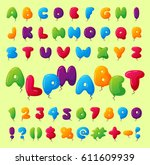 english balloon colorful... | Shutterstock .eps vector #611609939