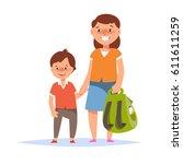 vector illustration of mother... | Shutterstock .eps vector #611611259