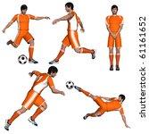 football player | Shutterstock . vector #61161652