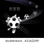 abstract soccer background with ... | Shutterstock .eps vector #61162249