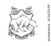 vector image of a heraldic... | Shutterstock .eps vector #611623139