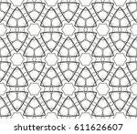 ornamental seamless pattern.... | Shutterstock .eps vector #611626607