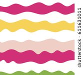 pattern of wavy lines. vector... | Shutterstock .eps vector #611631011
