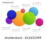 modern new style infographics...   Shutterstock .eps vector #611631449