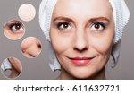 happy woman after beauty... | Shutterstock . vector #611632721