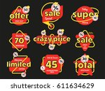 discount tag with special offer ... | Shutterstock .eps vector #611634629