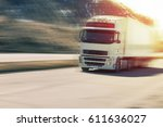 truck carrying .close up image ... | Shutterstock . vector #611636027