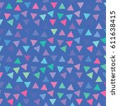vector color pattern. geometric ... | Shutterstock .eps vector #611638415