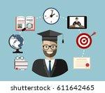 training  education  online...   Shutterstock .eps vector #611642465