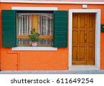 rustic entrance  burano  italy | Shutterstock . vector #611649254