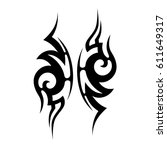 tattoo sketch tribal vector...   Shutterstock .eps vector #611649317