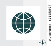 the globe icon. vector... | Shutterstock .eps vector #611650937