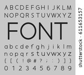 font design  letters and... | Shutterstock .eps vector #611653157