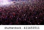 crowd at concert   summer music ... | Shutterstock . vector #611653511