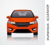 car vector template on white... | Shutterstock .eps vector #611656439