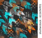 abstract seamless boys... | Shutterstock .eps vector #611656901