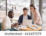 young startupers. group of... | Shutterstock . vector #611657279