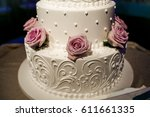 wedding cake | Shutterstock . vector #611661335