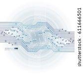 vector circuit board... | Shutterstock .eps vector #611666501
