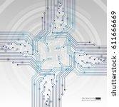 vector circuit board... | Shutterstock .eps vector #611666669