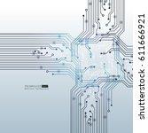 vector circuit board... | Shutterstock .eps vector #611666921