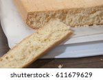 texture of yellow cake | Shutterstock . vector #611679629