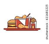 vector illustration of a... | Shutterstock .eps vector #611681225