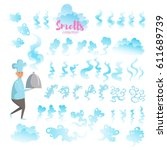 set with good smells. isolated...   Shutterstock .eps vector #611689739