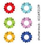 vector flower design element... | Shutterstock .eps vector #611692139