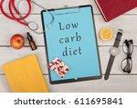medecine concept   clipboard... | Shutterstock . vector #611695841